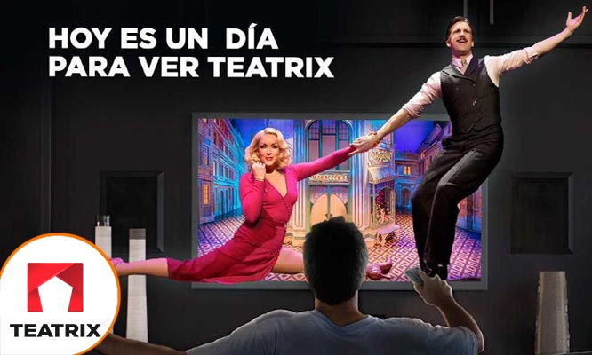 Suscripcion a TEATRIX por 1 3 6 o 12 meses ¡Teatro online desde tu casa!