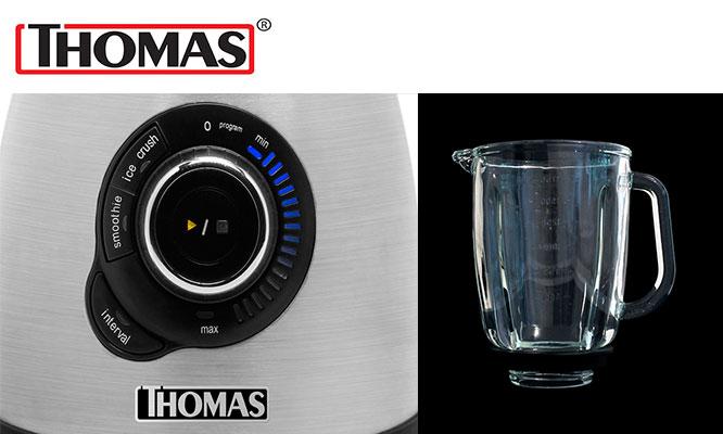 Licuadora Thomas 1000W 12 Velocidades en Rojo o Silver