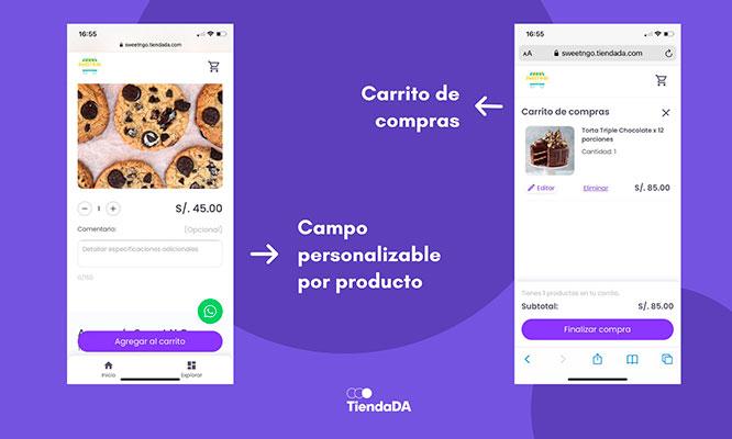 ¡Crea tu Tienda Virtual! plan de 3 meses carrito de compras