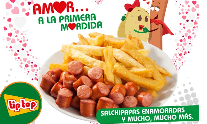 Tip Top salchipapa clasica para compartir 2 gaseosas ¡Cupon desde tu celular!
