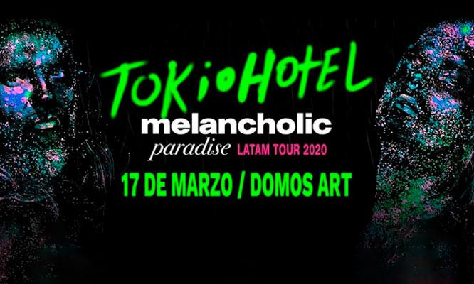 Entrada a concierto Tokio Hotel - Melancholic Paradise Tour 17/03 en Domos Art