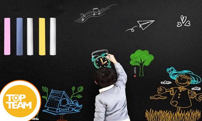 Pizarra vinil autoadhesiva ecologica de 045 x 2 Metros 5 Tizas y mas ¡Incluye delivery!