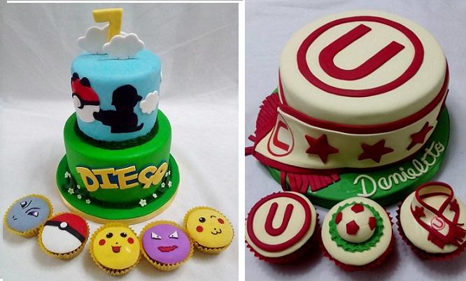 Torta de 12 20 30 o 50 porciones personalizada de 1 o 2 pisos