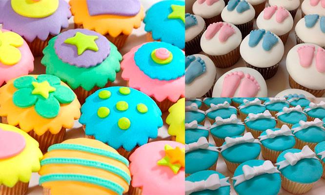 Cupcakes 6 12 o 24 decorados en fondant o buttercream