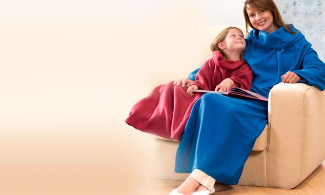 Delivery Manta polar con mangas para niños o adultos