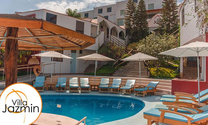 2D/1N para 2 personas Desayuno buffet Welcome drink en Hotel Villa Jazmin