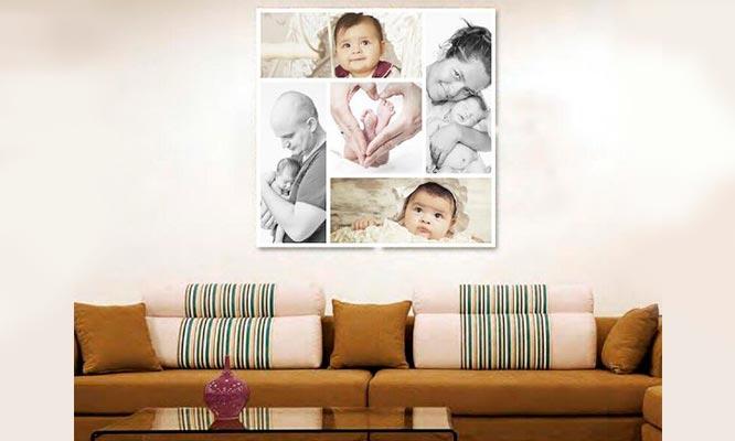Vinilos collage de fotos foto A-5 de regalo delivery