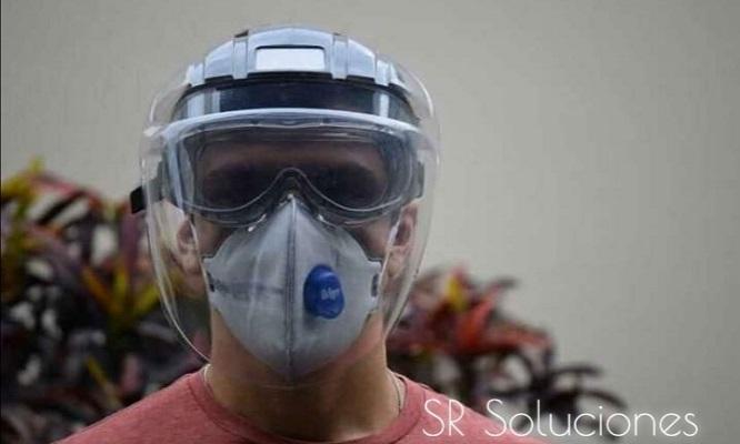 Visor para proteccion facial delivery ¡Diseño envolvente cobertura total!