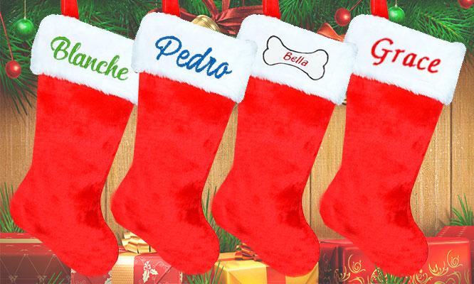 1 2 3 o 6 Botas navideña con bordado personalizadas delivery