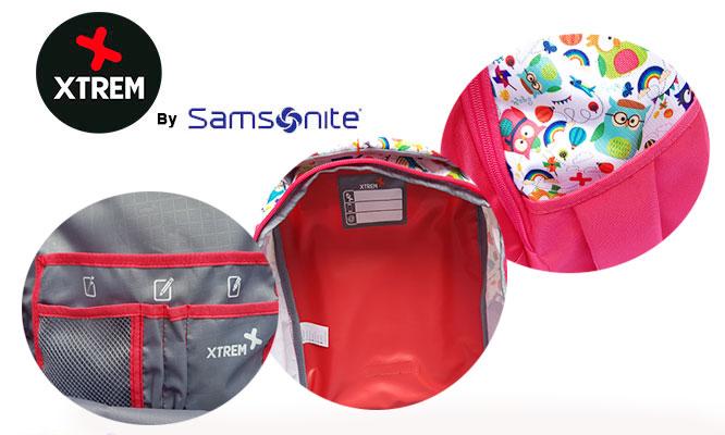 Mochila Xtreme® By Samsonite Trolley Buhos jalador y ruedas delivery