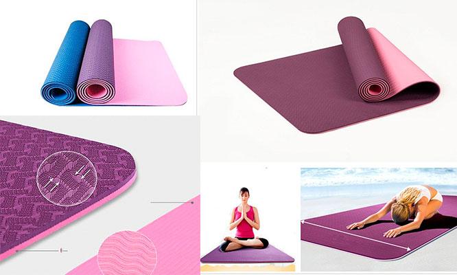 S/ 59 por colchoneta para yoga mat premium eco-friendly TPE de alta calidad en colores a elegir