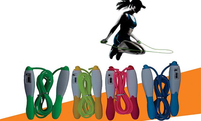 Salta soga con cronometro de saltos y cable ajustable con Yong Siu