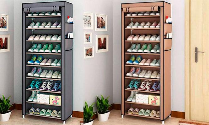 Zapatera de 9 divisiones (27 pares de zapatos)